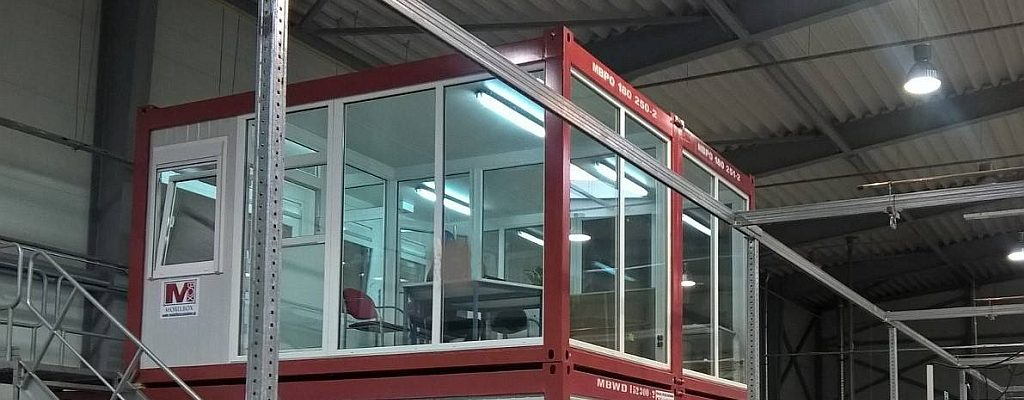 Produktionshallenbüro aus Mobilbox-Containern