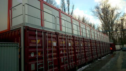 Containeranlage Flughafenerrichtung