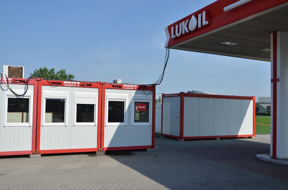 Containeranlage Erweiterung einer Lukoil Tankstelle