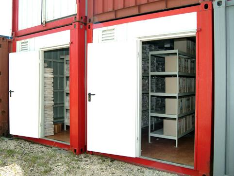 Document archiving container for rent