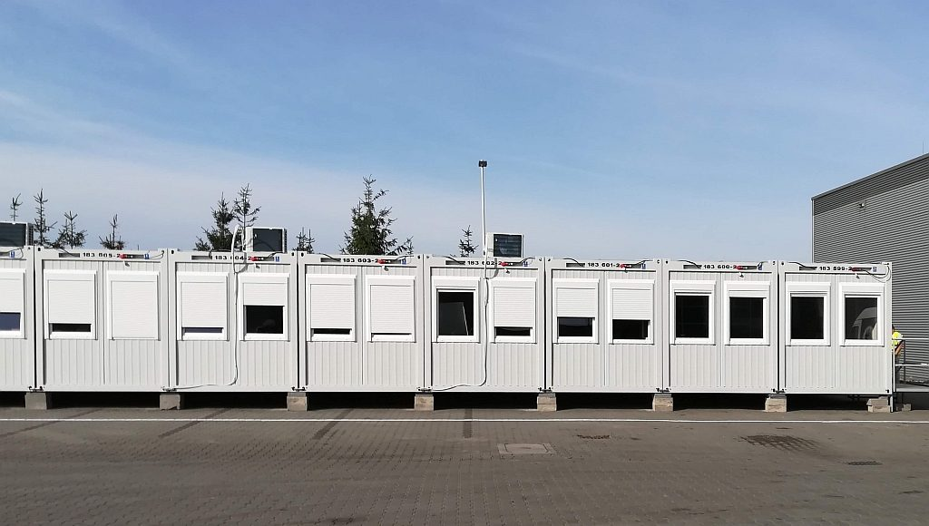 Temporary office and warehouse facilities for GZELLA OSIE in Poland