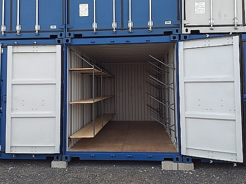 Container shelves