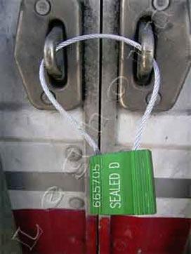 Plomby metalowe do kontenerów