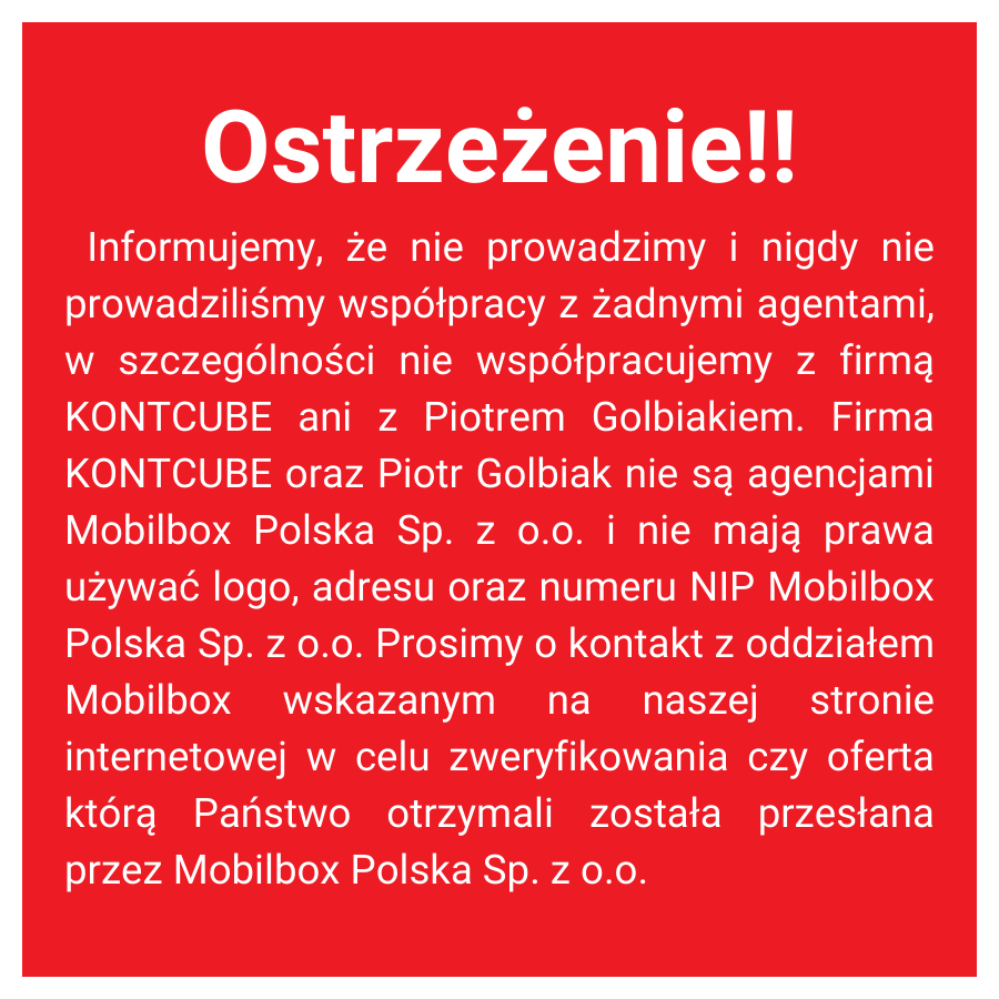 Ostrzeżenie o podszywaniu sie pod firmę MOBILBOX (1)